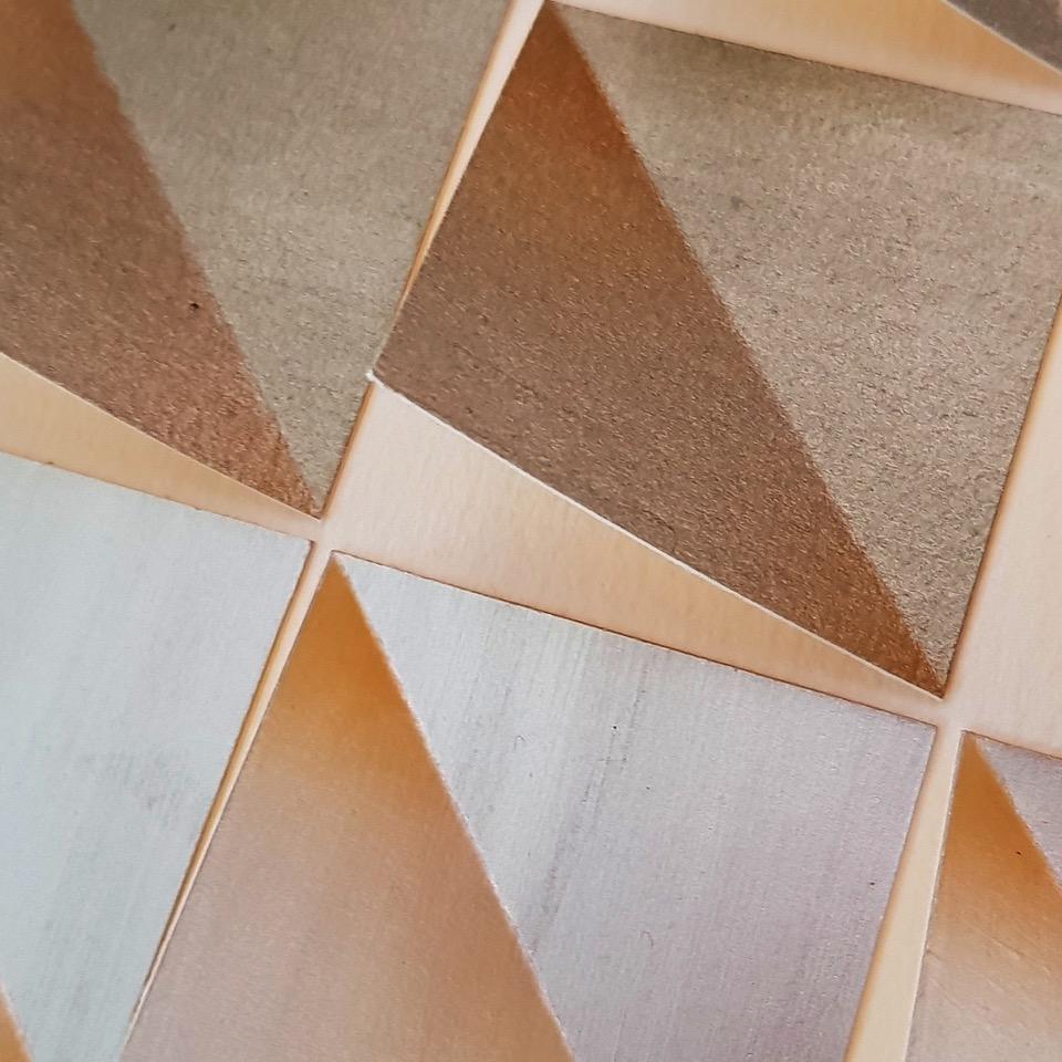 oeuvre papier carrés